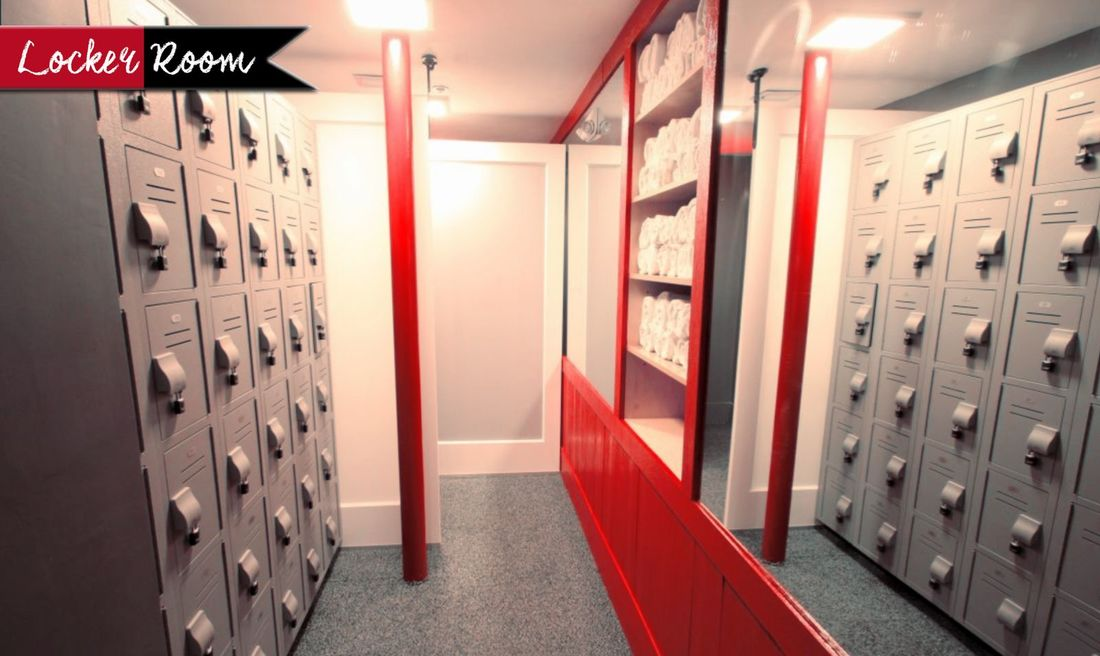 Locker Room In Sauna